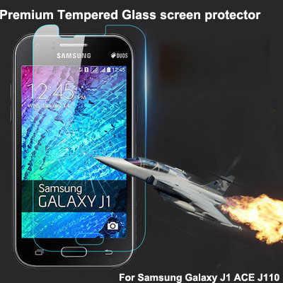 لسامسونج غالاكسي j1 الآس رقيقة جدا قسط الزجاج المقسى حامي الشاشة ، j110 9 h الزجاج شاشة السينما الجلد الحرس
