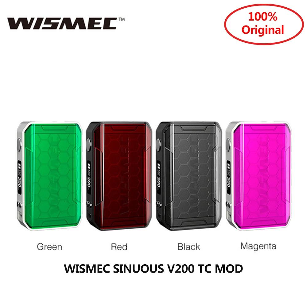 WISMEC Original sinueux V200 TC MOD 510 fil et 0.91 pouces écran adapté Amor NSE réservoir vaporisateur MOD Vape Mod VS SHOGUN UNIV Mod