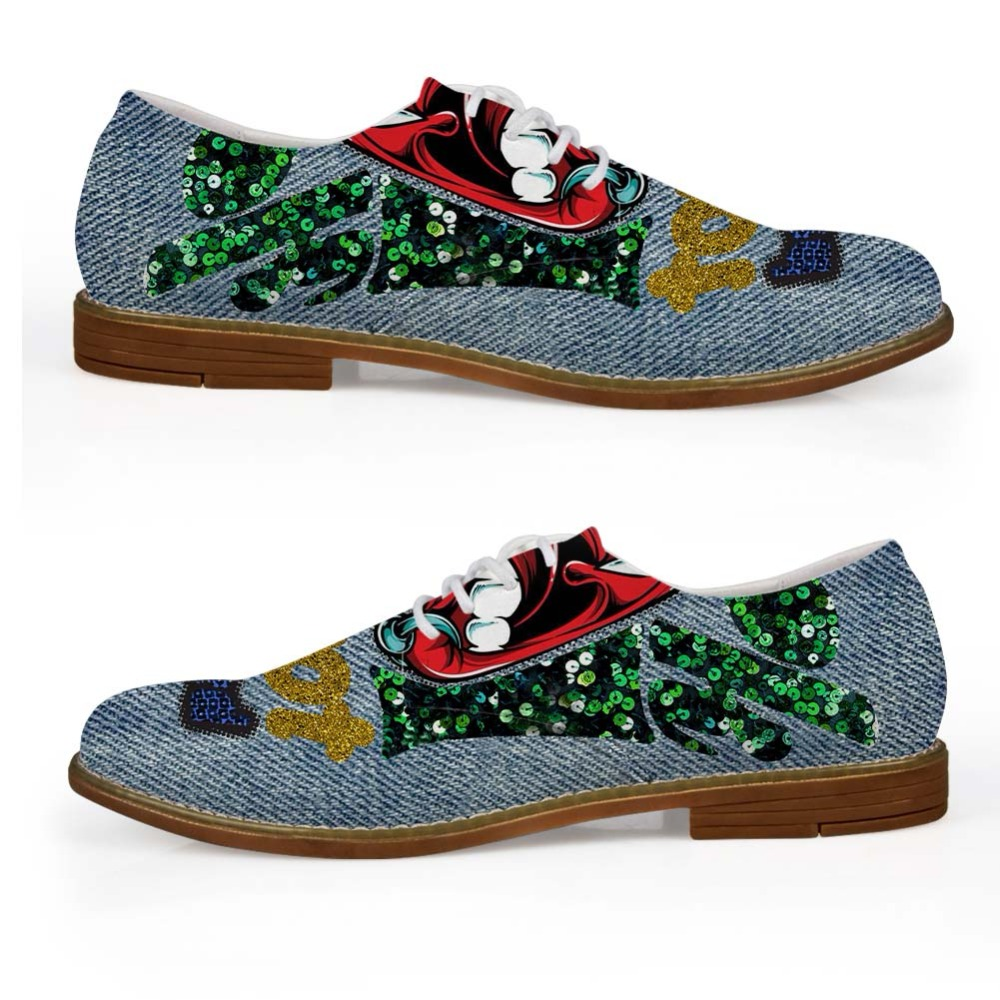 Noisydesigns Boys Oxford Shoe Denim Color cute little animal Print - Men's Shoes - Photo 6