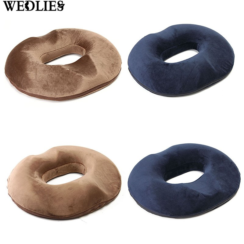 1pcs ring pillow 43x40cm donut seat cushion large orthopedic for hemorrhoid sciatic nerve pregnancy tailbone pain