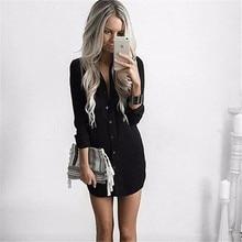 Autumn Casual Loose Long Sleeve Button Shirt Dresses Mini Vestidos Long Tops Blouses Plus Size