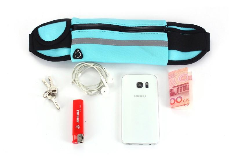 Outdoor Running Waist Bag Waterproof  Mobile Phone Holder Jogging Belt Belly Bag Women Gym Fitness Bag Lady Sport Accessories 12