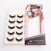 5 Pairs Makeup Long Black Natural Handmade Thick Soft False Eyelashes Eye Lashes HTY07