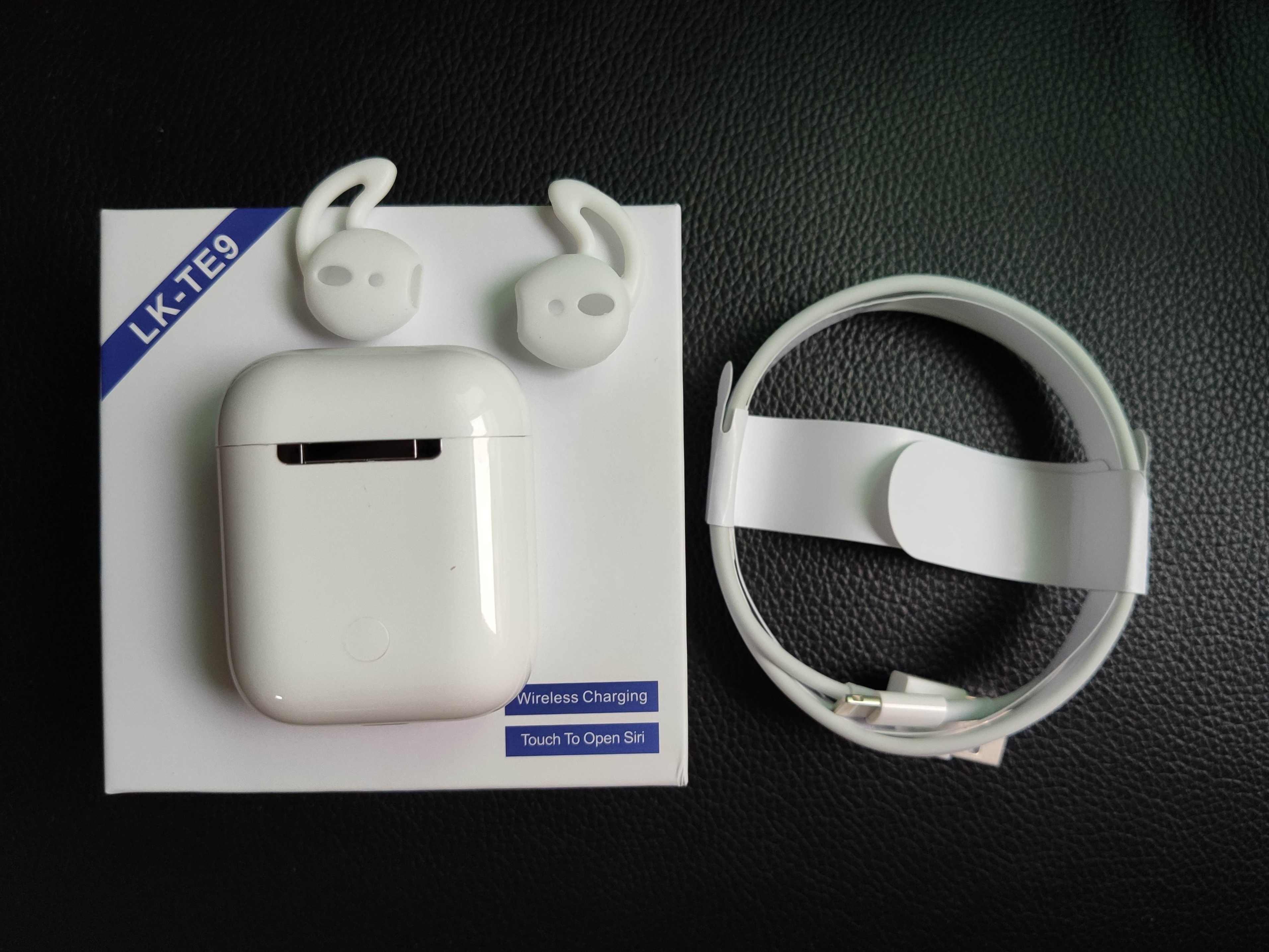 LK-TE9 tws nowa funkcja bezprzewodowy zestaw słuchawkowy bluetooth słuchawki 1:1 ładowania bezprzewodowego Bluetooth dla wszystkich inteligentnych telefonów