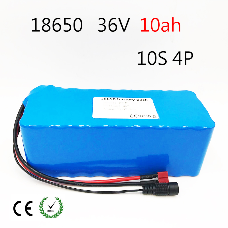 Laudation 36V 10ah electric bicycle battery pack 18650 Li-Ion Battery 500W High Power and Capacity 42V Motorcycle Scooter+BMS