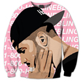 2016 осень Новые Модные Мужские/Womes позвонить мне на мобильный телефон 3D Печати пуловеры Толстовка плюс размер S-XXXL