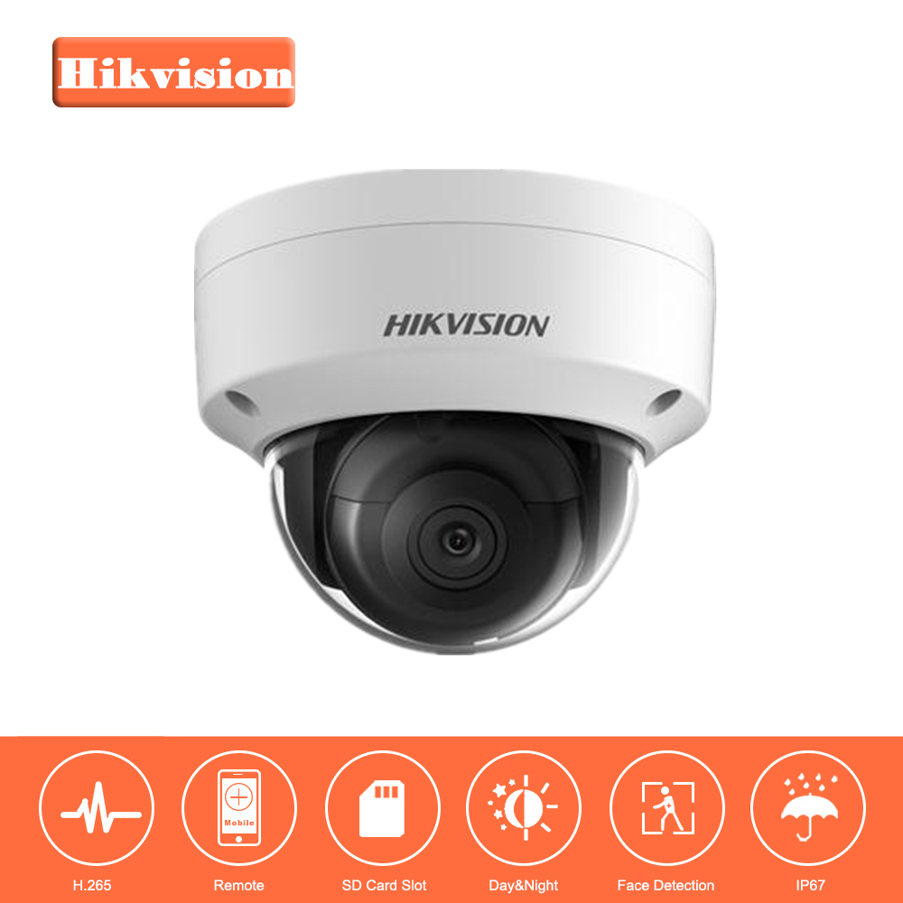 Hikvision Security Camera 8MP PoE Outdoor Indoor Waterproof Dome IP Camera DS-2CD2155FWD-IS CCTV System Built-in SD card Slot