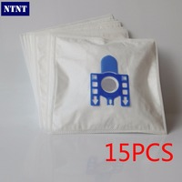Free Shipping 15 PCS New Vacuum Cleaner Bags Miele GN Filter Bags 5 Layers Nonwover Filter