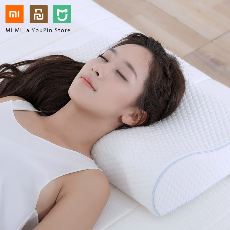 Original Xiaomi 8H Tri-curved Cool Feeling Slow Rebound Memory Cotton Pillows H1 Super Soft Antibacterial Neck Support Pillows