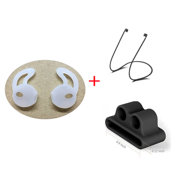 Replacement Soft Antislip Ear Cover Hook Earbuds Tips Earphone Silicone Case Cover Box for Apple AirPods Air Pods EarPods Earpod