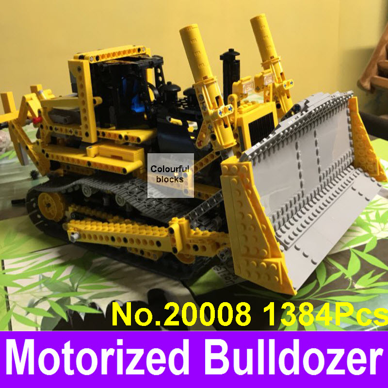 New LEPIN 20008 1384pcs Technic Series The Bulldozer Model Building Blocks Bricks Compatible 8275 Birthday Gifts Kids Toys new lp2k series contactor lp2k06015 lp2k06015md lp2 k06015md 220v dc