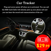 GPS Activity Tracker Vehicle Car Locator USB Cable Line Charger Listen Sound GSM GPRS Tracking Alarm Device for iPhone Android