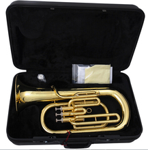 Brass Wind Instruments Euphonium Bb B Flat 3 Pistons Body with ABS case and mouthpiece