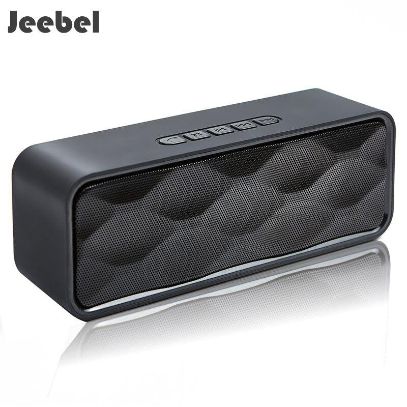 Jeebel Wireless Bluetooth Speaker Outdoor Portable Stereo Speaker with HD Audio Enhanced Bass Portable Column Computer Usb