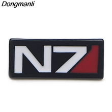 P3789 Dongmanli Fashion Mass Effect Game Cool Metal Enamel Brooches and Pins Lapel Pin Backpack Badge Collar Player Jewelry v280 game mass effect metal enamel pins and brooches fashion lapel pin backpack bags badge collection