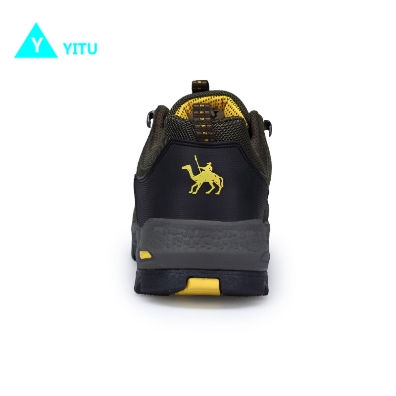 YITU Hiking Shoes Men Sneakers Outdoor Trekking Comfortable Sports Shoes Men Anti skid Camel Shoes Hiking Camping Sneakers Black in Hiking Shoes from Sports Entertainment
