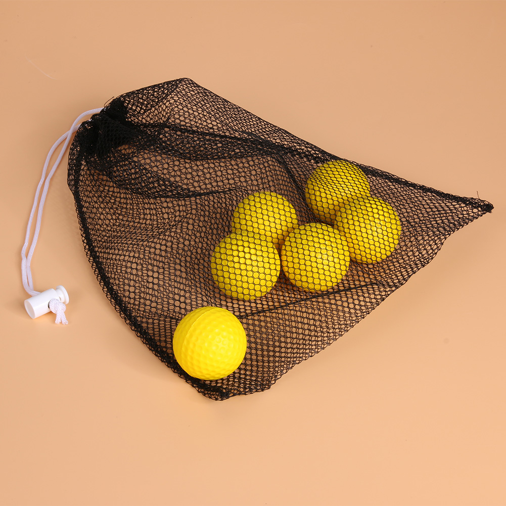 Black Nylon Mesh Net Bag Pouch Golf Tennis 40 Balls Holder Hold Ball Storage Closure Training Aid Durable 280 X 235 X 3MM