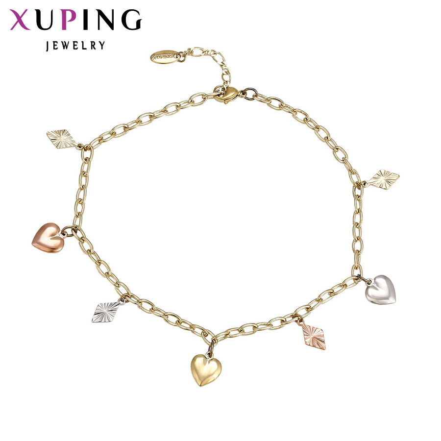 Xuping Fashion Anklet Multi-color Plated High Quality Luxury Foot Chain Jewelry Special Gift Women S14.1/S34.3-73079