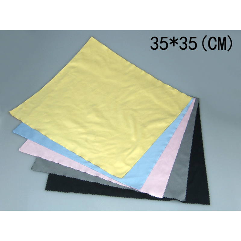 35*35cm Good Quality Eyeglass Glasses Lens Eyeglasses Microfiber Cleaning Cloth for Camera laptop Screen