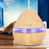 Mini Air Ultrasonic Humidifier USB Charging Aromatherapy Wood Grain LED Lights Essential Oil For Humidifer Aroma