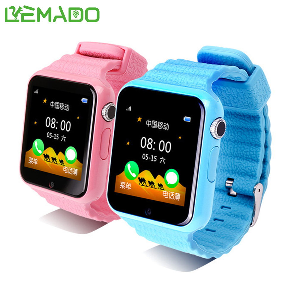 Lemado V7K GPS Smart Watch waterproof kids Smartwatch with camera SOS Call Location Device Tracker for iPhone Android Phone