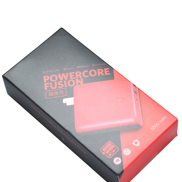 Anker-chargeur Portable et Super Portable   Appareil électrique rouge, avec connecteur, Apple, chargeur deux en un