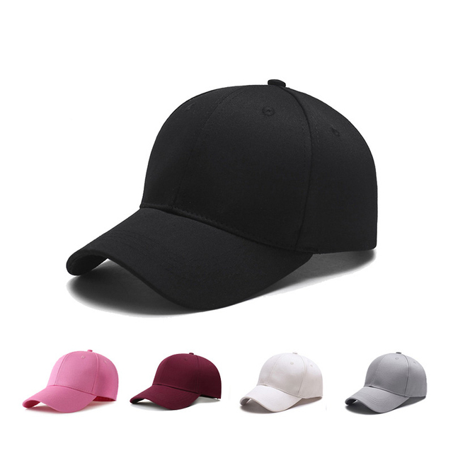 6a9ce791343 Black Adult Unisex Casual Solid Adjustable Baseball Caps Snapback Cap  Casquette Hats Fitted Casual Gorras Dad