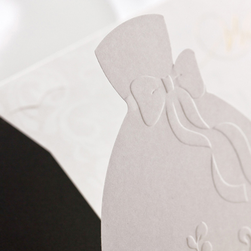 50pcs Custom Bride Groom Wedding Invitations Card Convite De