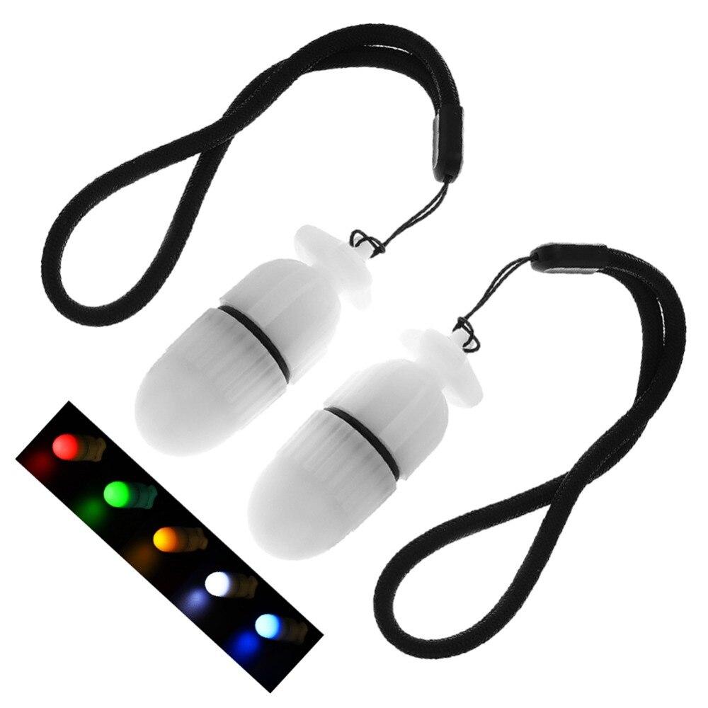 2pcs/lot Night Dive Signal Light Outdoor Sports Warming Strobe Light 5 Color Underwater Emergency LED Safe Signal Light