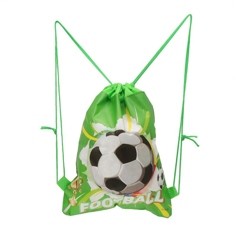 Football Storage Bag Non-woven Fabric Drawstring Bag Outdoor Sport Gym Backpack