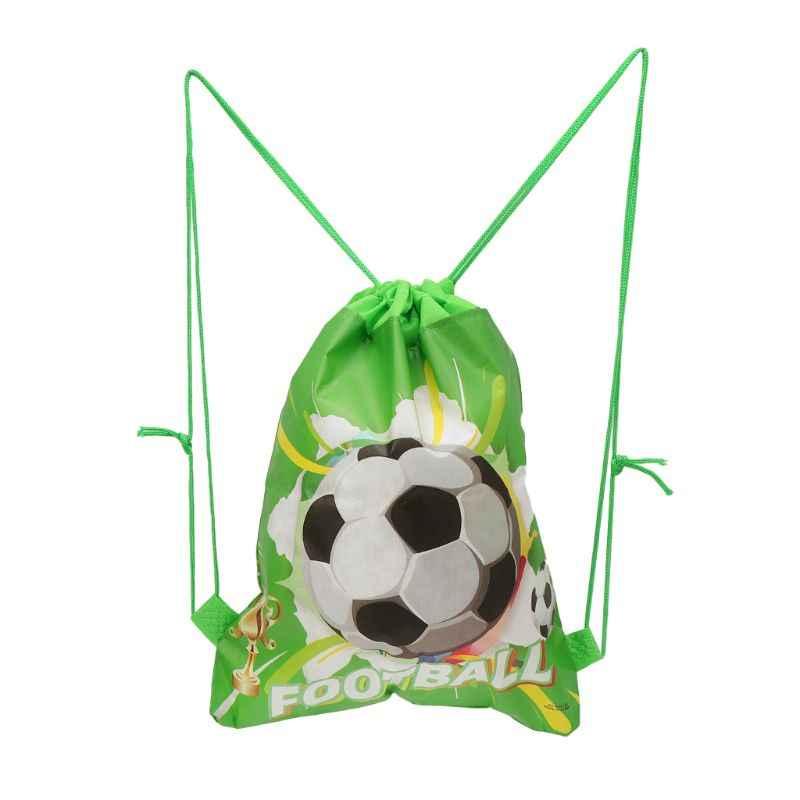 Saco de armazenamento de futebol não tecido tecido drawstring mochila esporte ao ar livre ginásio