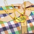 Золотое Сердце Головоломки Ожерелье с Коробкой Цепи, выгравированы Слова Разбить Сердце Кулон, пользовательские Имя Ожерелье, рождественский Подарок