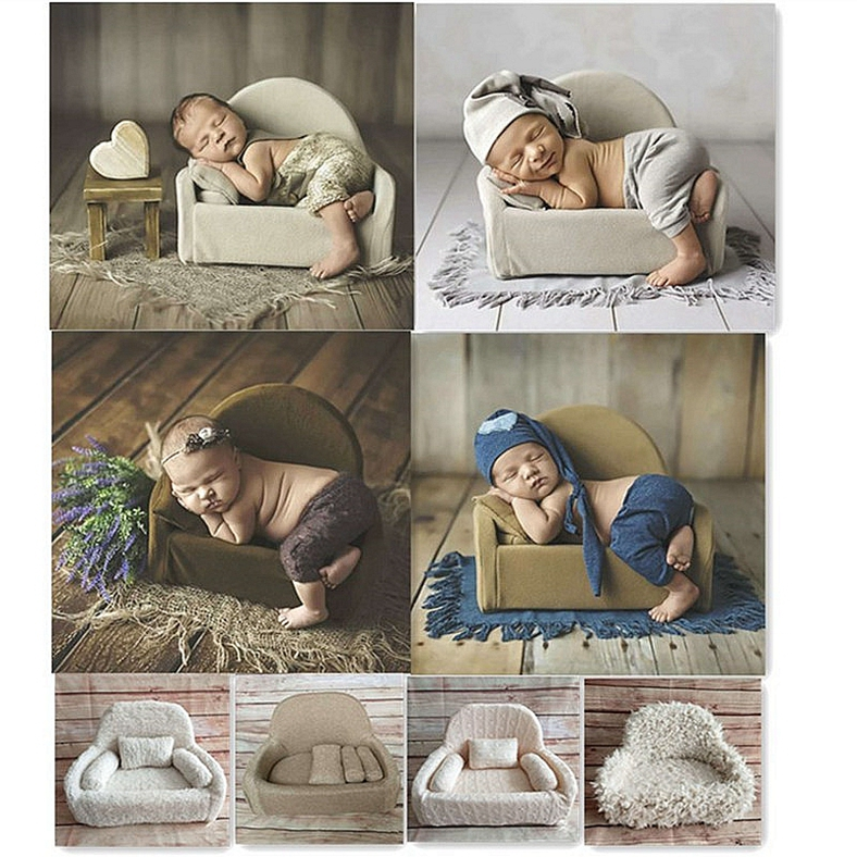 Baby Posing Sofa Pillow Set Chair Decoration Baby Photography Accessories Infant Studio Shooting Props Newborn Photography Props недорого