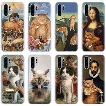 Funny Pat Cat Art Aesthetics painting Phone Cases for Huawei P30 P30 Pro P10 P20