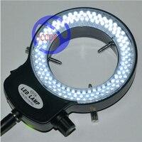 Fyscope Регулируемый 144 кольцо света лампа подсветки для промышленности стерео микроскоп с 110 В-240 В AC Мощность лупа адаптер