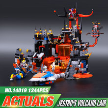 1244Pcs New LEPIN 14019 Nexoe Knights Jestros Vulkanfestung Model BuildingBlocks Bricks Minifigure Toy Compatible Legeo Kid Toy