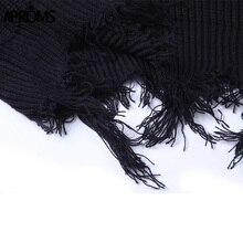Tassel Deep V Knitted Pullover