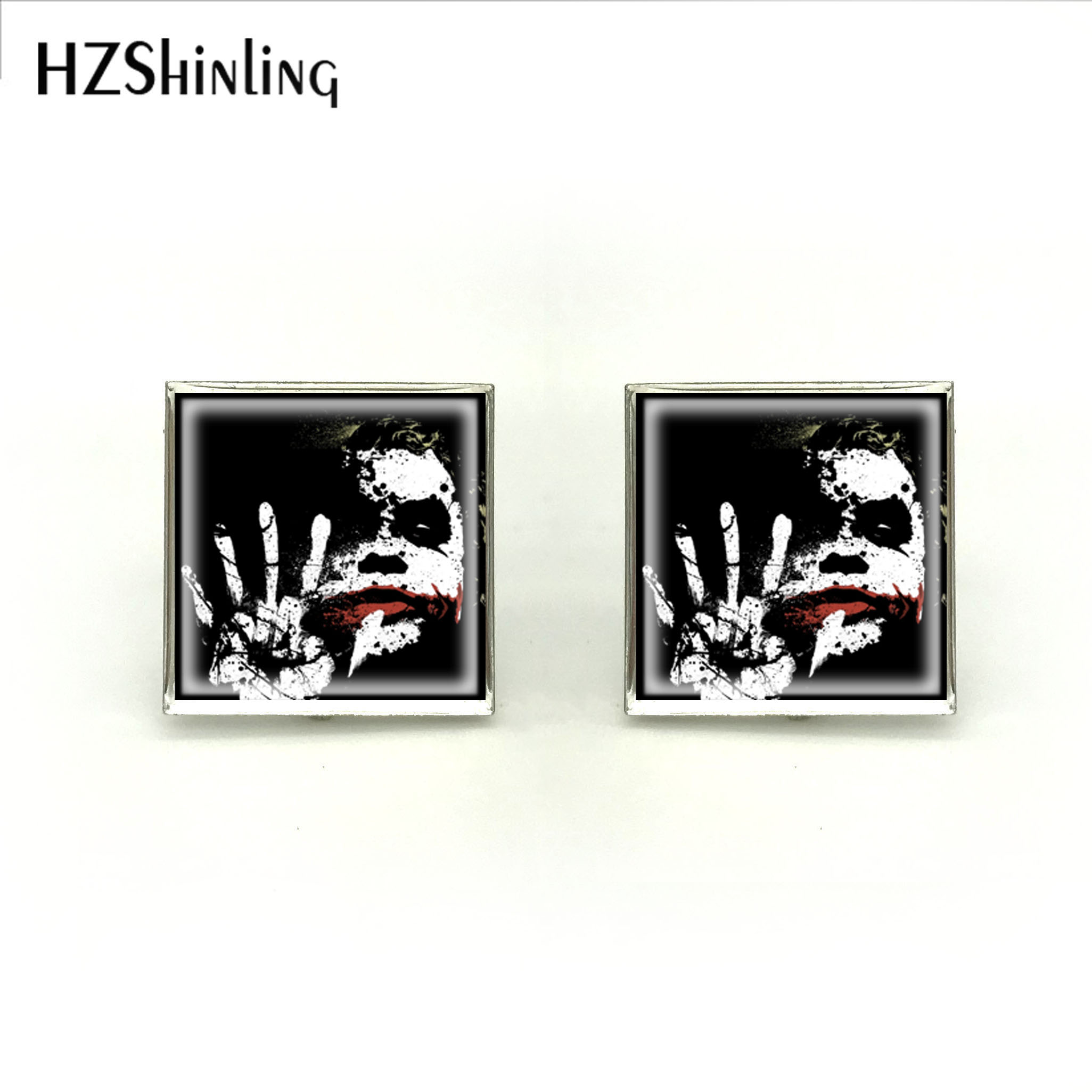 2018 New Give Me Five Cufflink Joker Square Cufflinks Glass Cabochon High Quality Jewelry Cufflinks For Mens