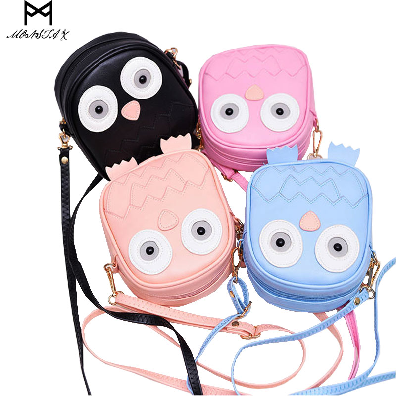 MONSTA X Fashion Mini Purse Handbag Owl Women Messenger Bags For Summer Crossbody Shoulder Bag with Belt Strap Sac Lady Clutch