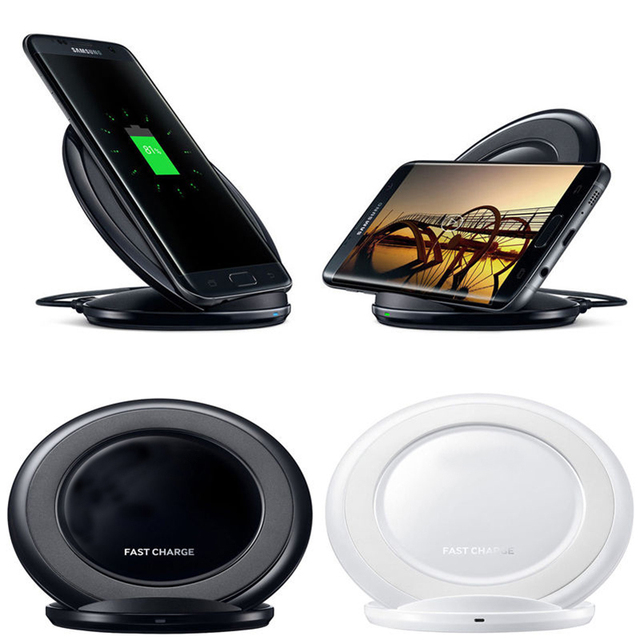 Charger Dock Qi Wireless Charging Stand Dock for Samsung Galaxy S6 Edge Plus S7 S7 Edge Qi Wireless Charger Pad With Stand Dock
