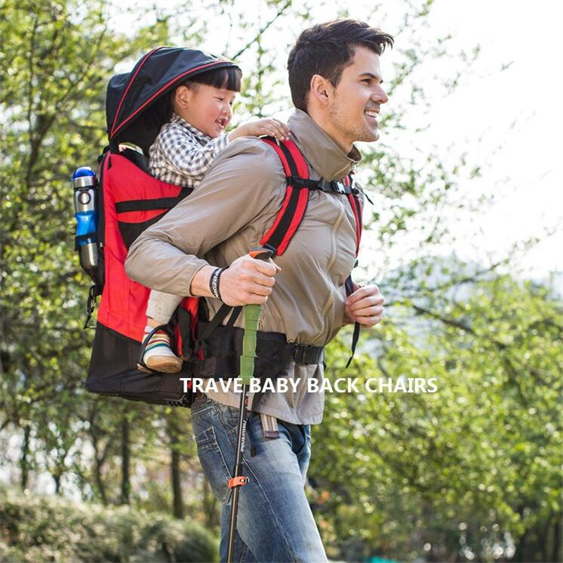 Foldable Baby Travel carrier Waterproof Baby toddlr Hiking Backpack Outdoor Mountaineering Baby back Frame Chair gabesy baby carrier ergonomic carrier backpack hipseat