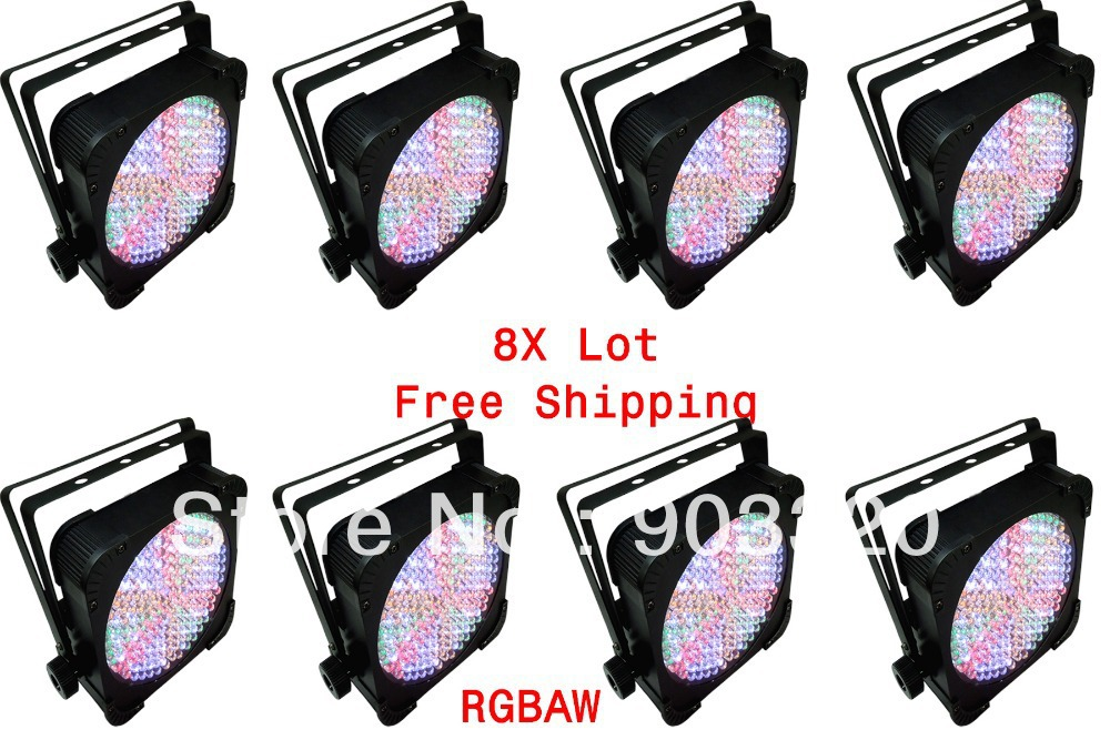 ФОТО 8X lot Free Shipping HOT 198pcs*10MM RGBAW 5in1 LED Par Can,LED Par Light,Pro Lighting,American DJ Light