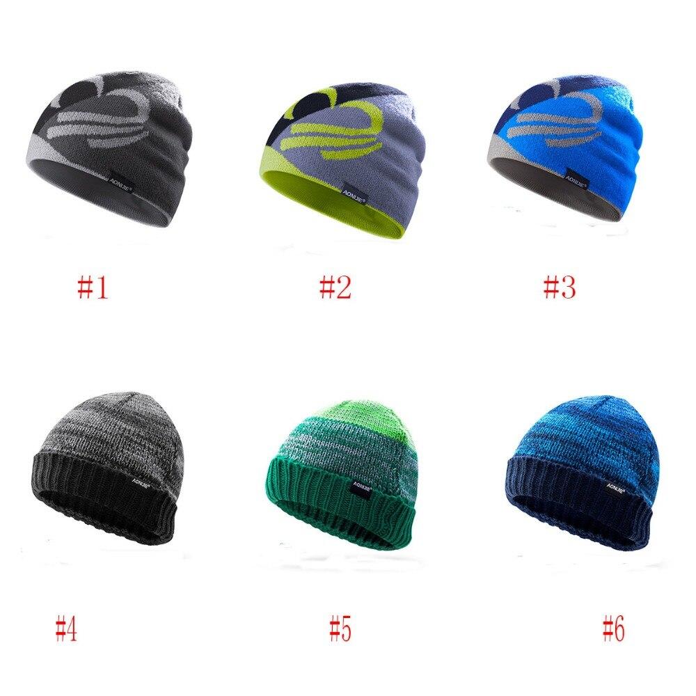 Aonijie Winter Warm Hats Outdoor Sports Snowboarding Cap Winter Windproof Thick Warm Running Cap Ski Running Caps