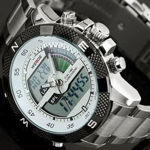 2017 Top Luxury Brand WEIDE Men Fashion Sports Watches Men's Quartz LED Clock Ma