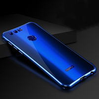 For Huawei Honor 8 Case Aluminum Alloy Metal Frame Acrylic Back Cover Case For Huawei Honor