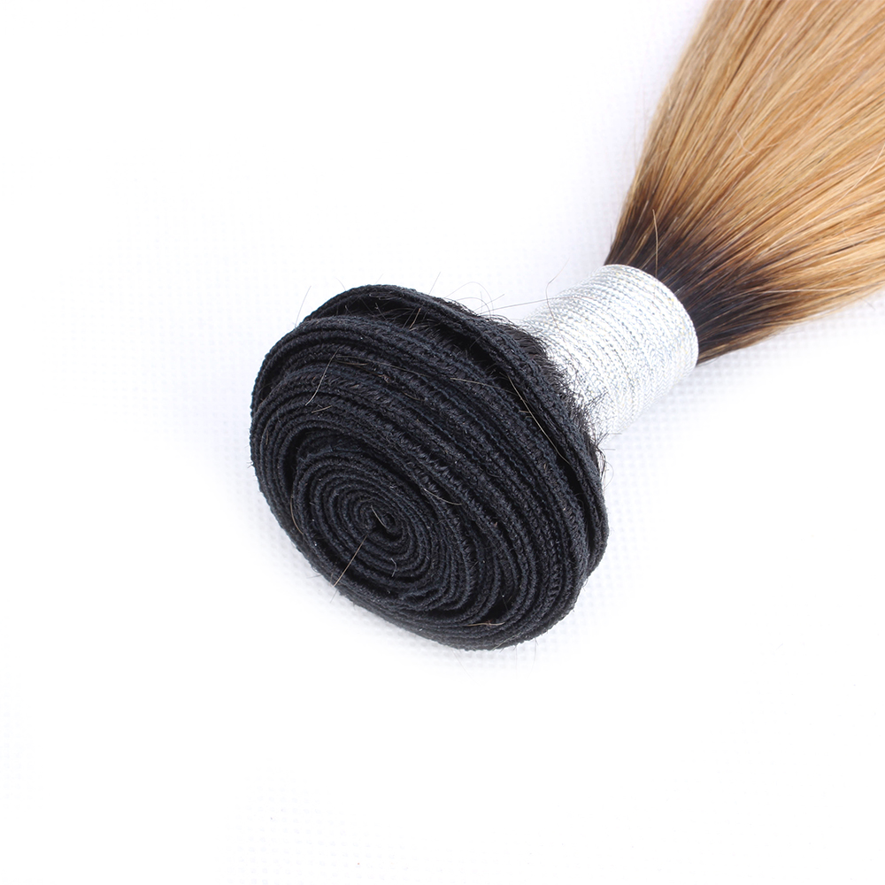 HTB1nwM.O3HqK1RjSZFEq6AGMXXap Bobbi Collection 4/6 Bundle with Closure 50g/pc Brazilian Ombre Honey Blonde Hair with Lace Closure Straight Remy Human Hair