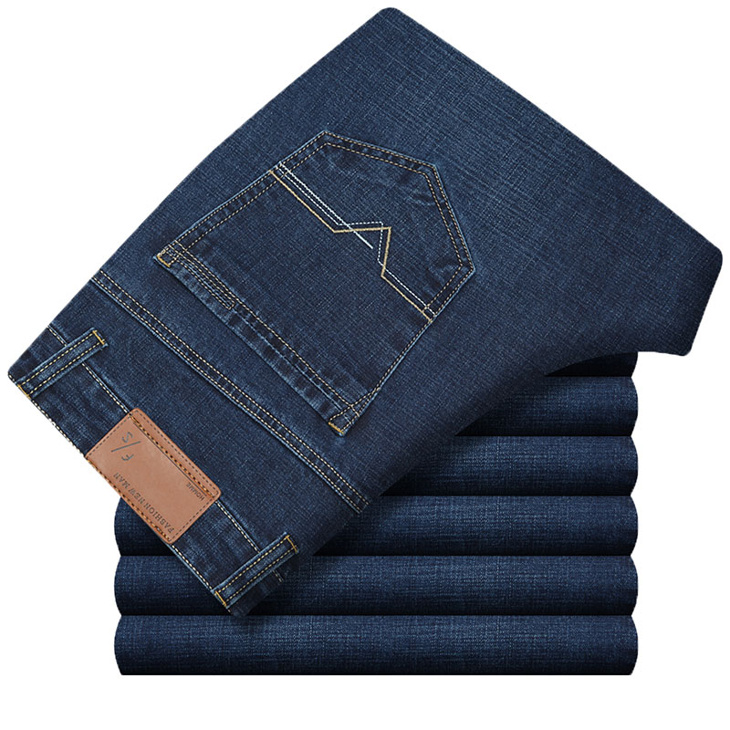New Arrival Famous Brand Jeans For Men Cheap Jeans Straigh Regular Fit Denim Jeans Pants Classic Blue Colour Size 30-40 HLX141 men s cowboy jeans fashion blue jeans pant men plus sizes regular slim fit denim jean pants male high quality brand jeans