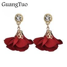 EK2062 Bohemia Classic Drop Earrings for Women Boucle d'oreille Crystal Red Rose Flower Earrings For Women Jewelry Cute Bijoux
