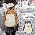 Shiba Inu japonês Estilo 2 Cor Mochila Saco Estudante Mulheres Menina Miúdos Shoolbag Bonito Presente