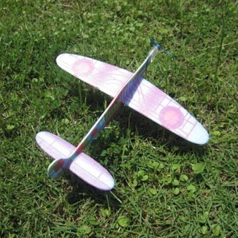 12 шт. DIY Ручная планерный Самолет Модель игры на открытом воздухе игрушки самолет из пенопласта наружные спортивные игрушки пластик Сделай Сам самолет
